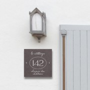 Slate address & number plaque 20 x 20cm