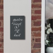 Slate house numbers in letters 16 x 26cm & 15 x 30cm