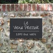 Slate address & number plaque 16 x 26cm, 15 x 30cm or 20 x 30cm