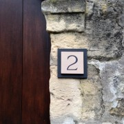 stone on slate house number