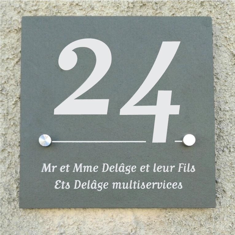 plaque d adresse maison ventana blog. Black Bedroom Furniture Sets. Home Design Ideas