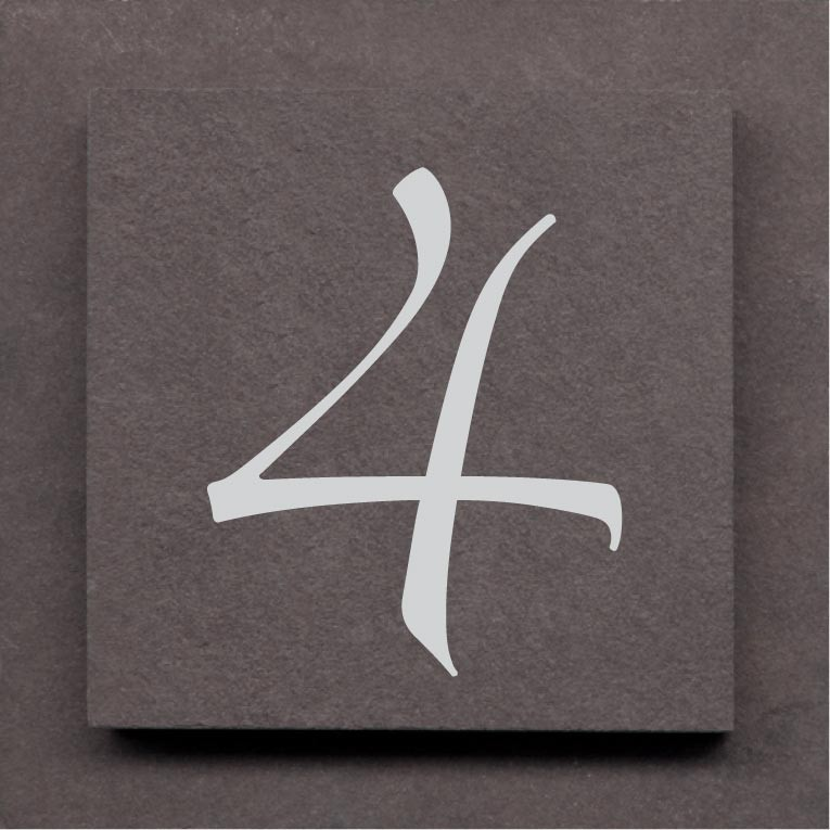 Beautiful Street Number Plaque Slate On Slate In Choice Of 3 Colours