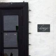 Slate house numbers in letters 12 x 20cm & 20 x 20cm